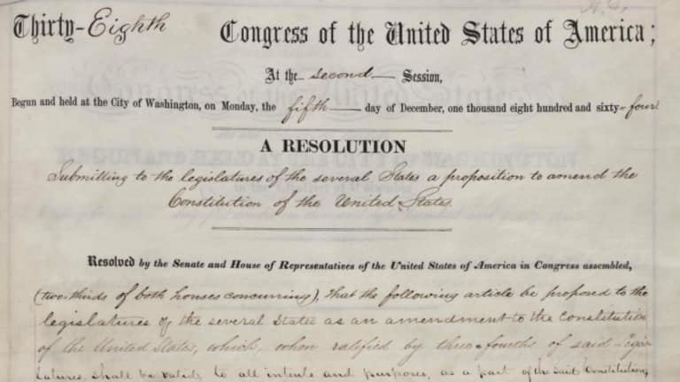 On this day in 1865, the United States ratified the 13th Amendment which put an end to slavery. <br>http://pic.twitter.com/kWfcy0jk1i
