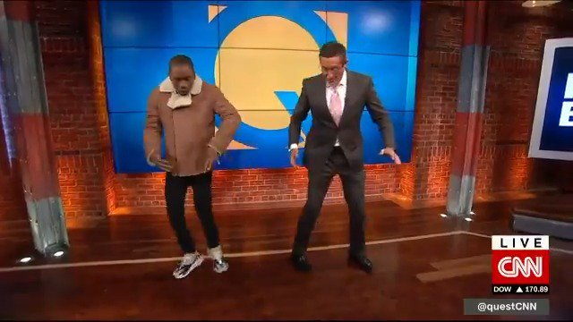 "Watch rapper 2 Milly teach CNN's @richardquest how to do his signature dance move, the ""Milly Rock"" https://cnn.it/2QB79tI"