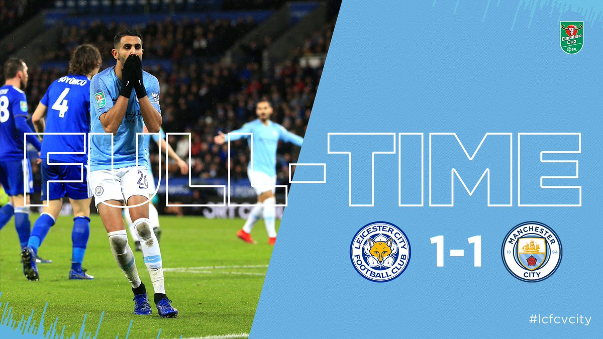 FULL TIME | We're going to penalties!  🦊 1-1 🔵 #lcfcvcity