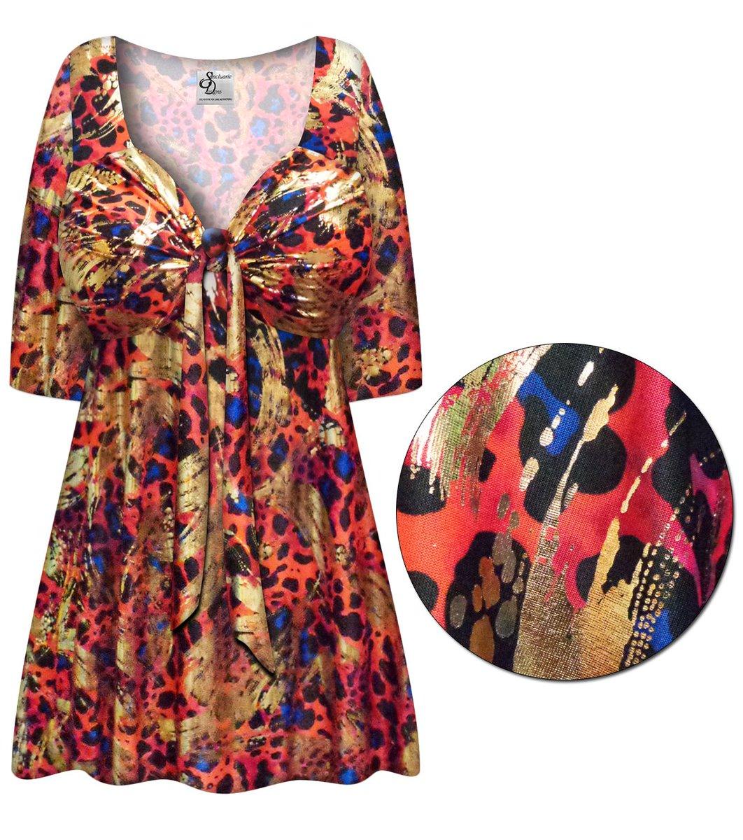 0cca4b4b875 PLUS SIZE Metallic Red Black and Blue Slinky Tie Babydoll Shirt Sizes Lg XL  1x 2x 3x 4x 5x 6x 7x 8x. https   www.sanctuarie.com toptb90401593.html … ...