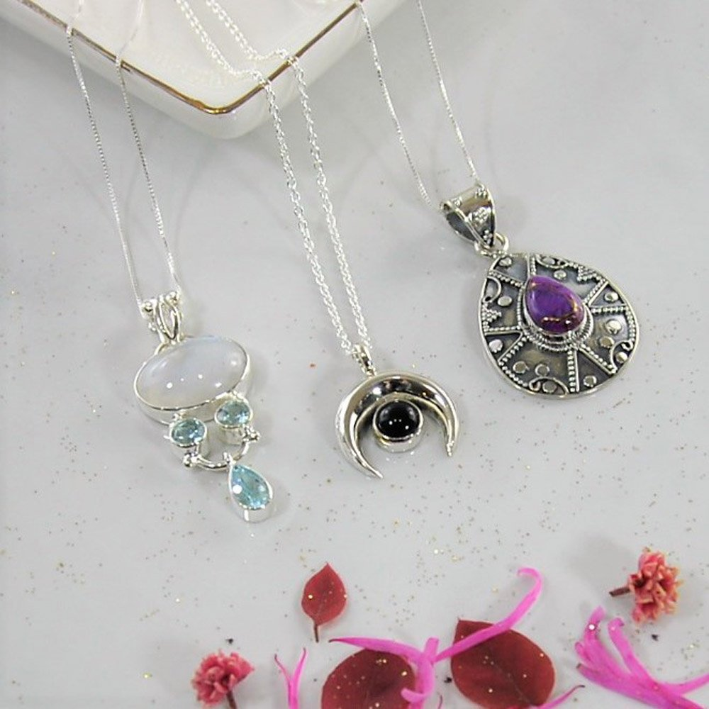 c944fc2b1 Gemstone necklaces in pure sterling silver are a great gift idea so shop  Now! http://Sivalya.com pic.twitter.com/Bq6DBOL97N