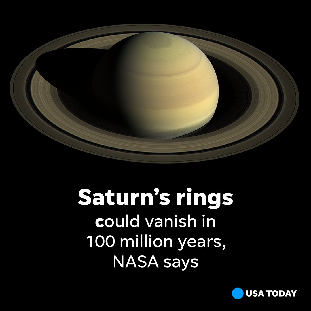 The planet is losing its signature rings at a worst-case scenario rate, said NASA scientists. bit.ly/2R5Rwdf