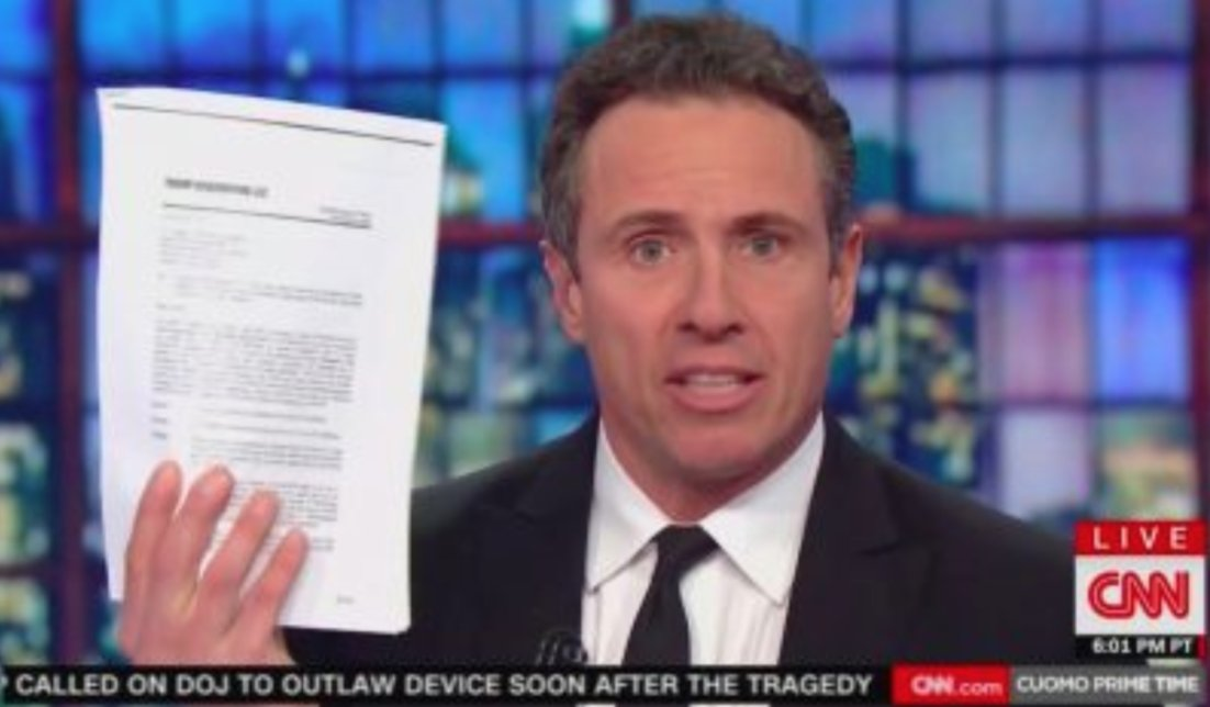 CNN's Chris Cuomo Displays Copy of Moscow Tower Letter of Intent with Trump Signature https://t.co/W5GJ5InSIj