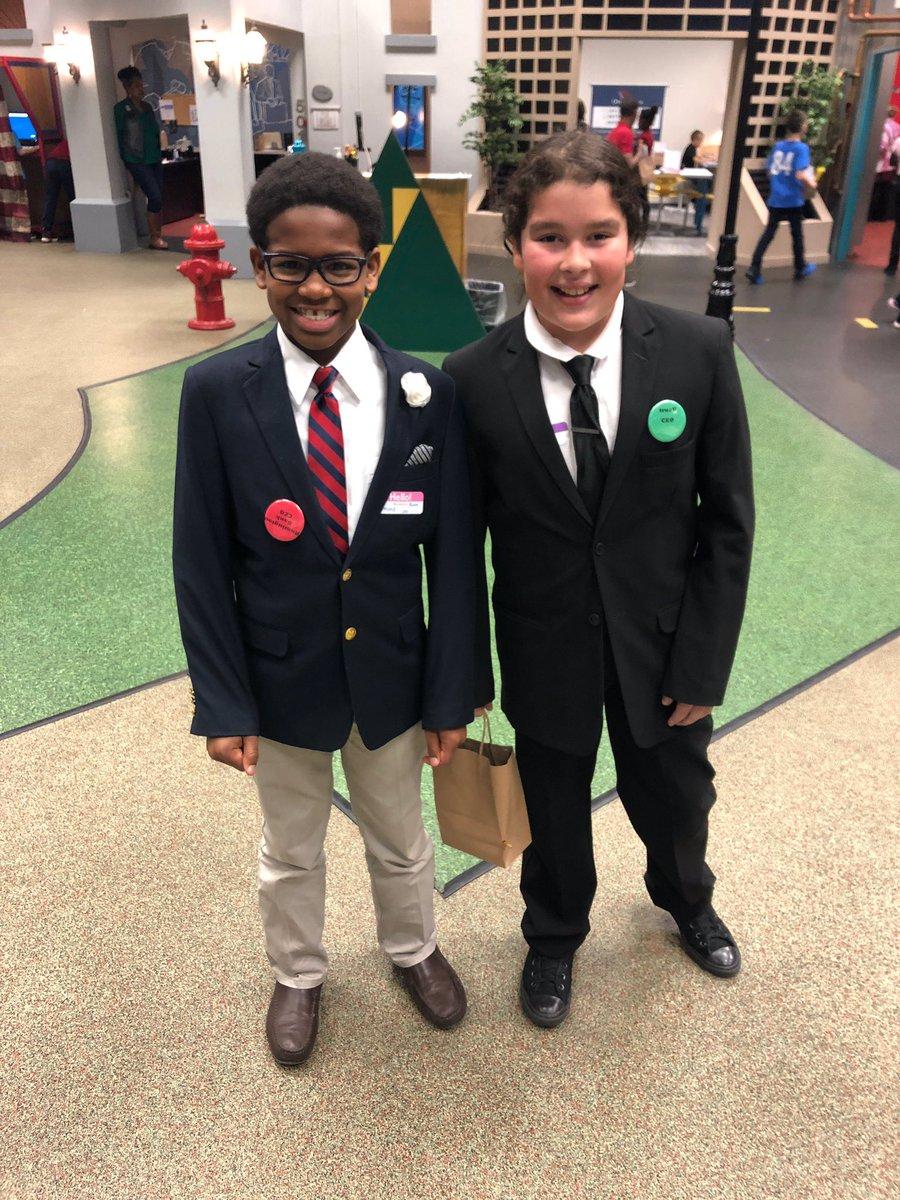 Proud principal of these junior CEO's! Grade 5 @JA_USA #Biztown @IPS_CFI