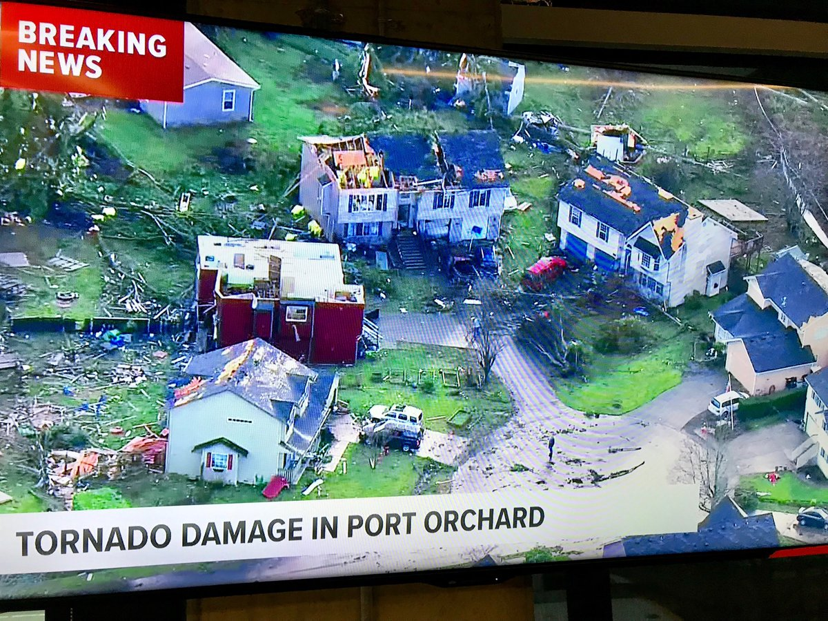 BREAKING NEWS: We are on the air now covering a tornado that touched down in the city of Port Orchard just before 2 o'clock this afternoon. As you can see from this picture, there is significant damage. The school district says all kids are safe.