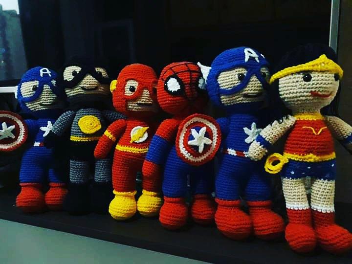 Kit Amigurumi Os Vingadores Em Croche Avengers Miniaturas - R$ 159 ... | 540x720