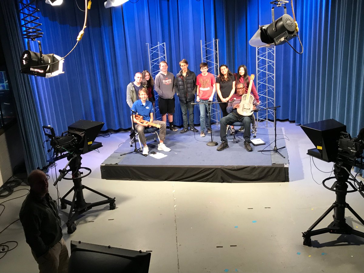 TV students film with professional blues artist Rick Franklin as tutorial for CTE middle school teachers on building cigar box guitars <a target='_blank' href='http://search.twitter.com/search?q=PBL'><a target='_blank' href='https://twitter.com/hashtag/PBL?src=hash'>#PBL</a></a> ⁦<a target='_blank' href='http://twitter.com/Margaretchungcc'>@Margaretchungcc</a>⁩ ⁦<a target='_blank' href='http://twitter.com/arlingtontechcc'>@arlingtontechcc</a>⁩ <a target='_blank' href='https://t.co/q9YfwhnYVc'>https://t.co/q9YfwhnYVc</a>