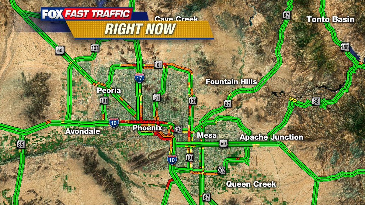 Here's your Traffic Right Now from #fox10phoenix