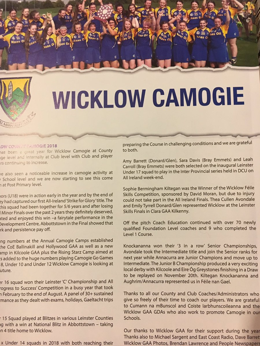 Wicklow Camogie on Twitter: