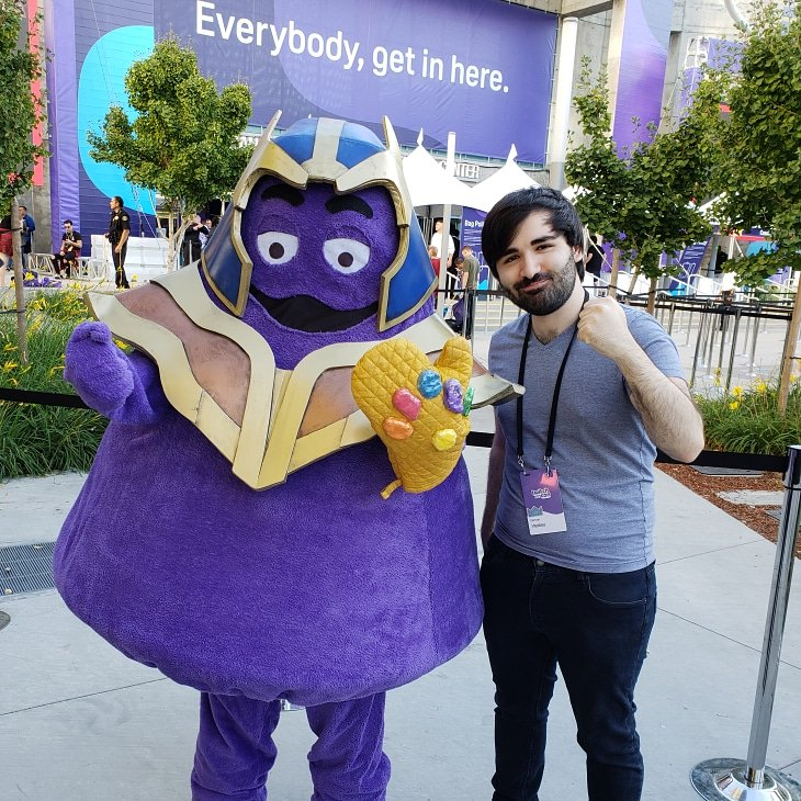 throwback to when i met Thanos, thank u for sparing me 😫🙏