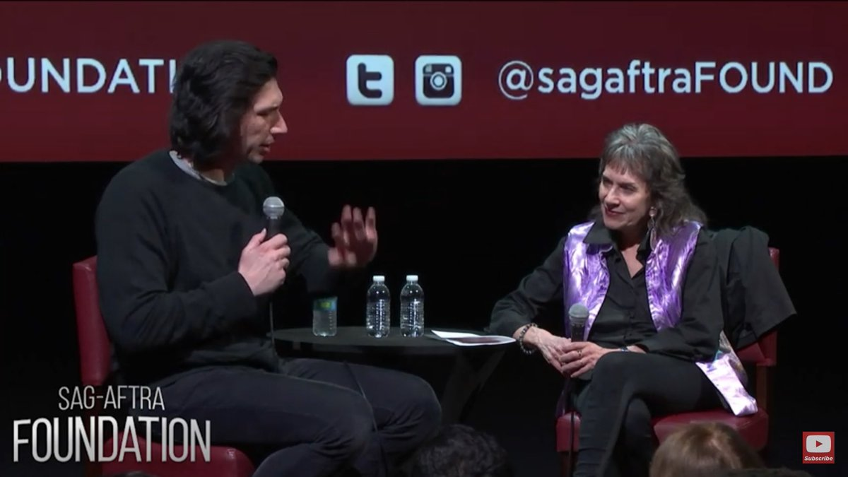NEW SAG-AFTRA conversation with Adam Driver  https:// youtu.be/ohBAup-lxDc  &nbsp;   #BlacKkKlansman <br>http://pic.twitter.com/or7sD6R4gI