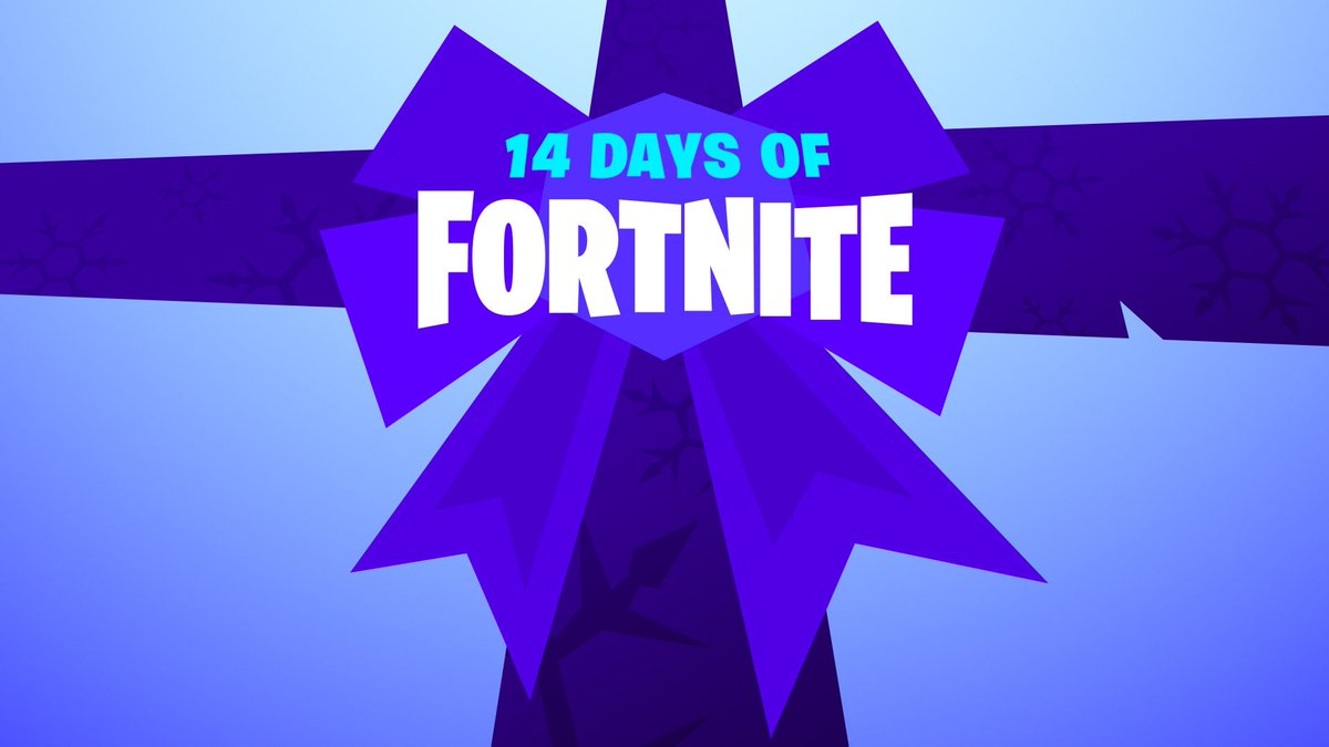 Tomorrow the 14 Days of Fortnite begins! I think we've got some really fun Limited Time Modes, cool 'gift' rewards, and awesome surprises lined up. Hope you love it!  The reward on Dec 25th is one of my favorite things we've ever made... :) <br>http://pic.twitter.com/HugpdKrHIn