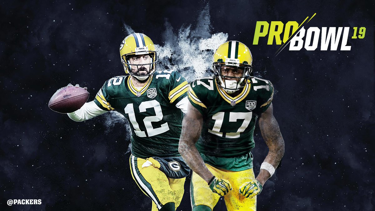 #Packers WR @tae15adams &amp; QB @AaronRodgers12 have been selected to the 2019 #ProBowl!   :  https:// pckrs.com/tr8u5  &nbsp;     #GoPackGo <br>http://pic.twitter.com/dBMu6SNRIy