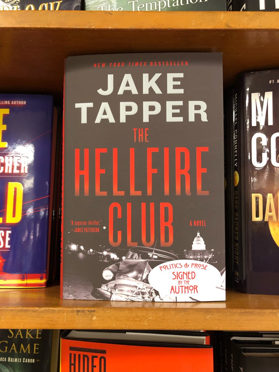 I signed a bunch of copies of @TheHellfireClub tonight at @PoliticsProse in DC if you're looking for a 🎄 🎁 for that special someone ...