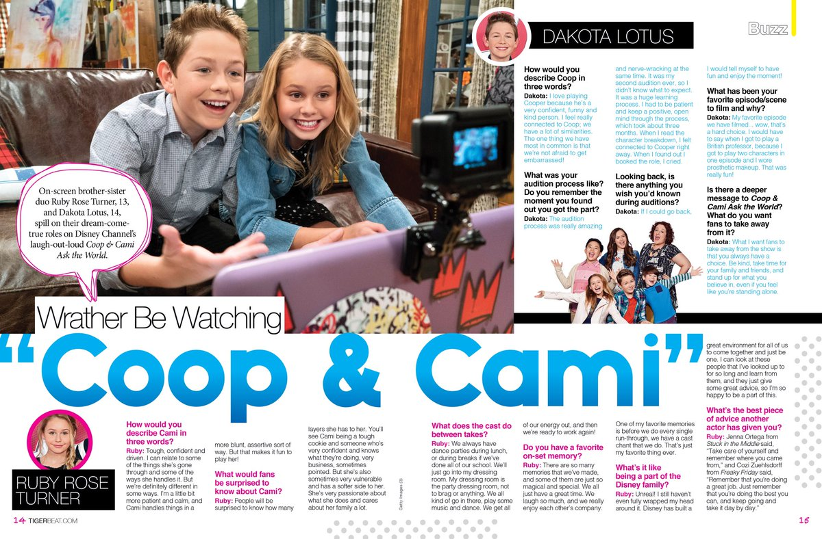 Thank you @TigerBeatNow for the article on #coopandcami go check it out!