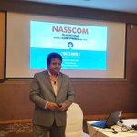 Image for the Tweet beginning: NASSCOM #blockchain Conference: @LynkedW Keynote