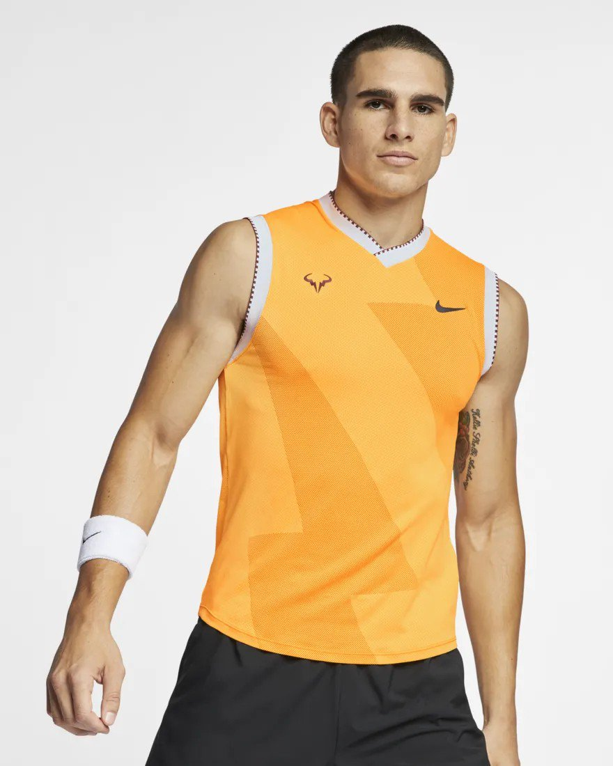 f5bbe64f163 Rafael Nadal s T-shirt   Nike Spring Collection 2019 (I think for AO...)pic. twitter.com u8n1ODvypM