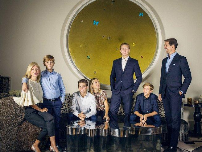 Семья греческого кронпринца для Vanity Fair España