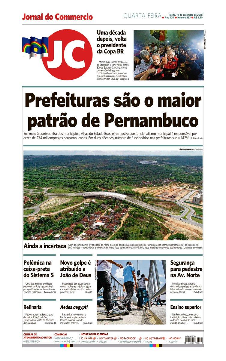 Capa do dia 19/12/2018