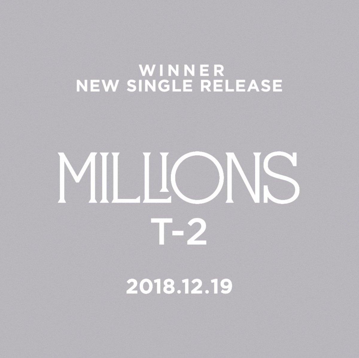 #WINNER 'MILLIONS' T-2 : JINU  New Single & M/V Release 🔜 2018.12.19 6PM(KST)  #WINNER #위너 #NEW_SINGLE #MILLIONS #T-2 #JINU #RELEASE #20181219_6PM #YG