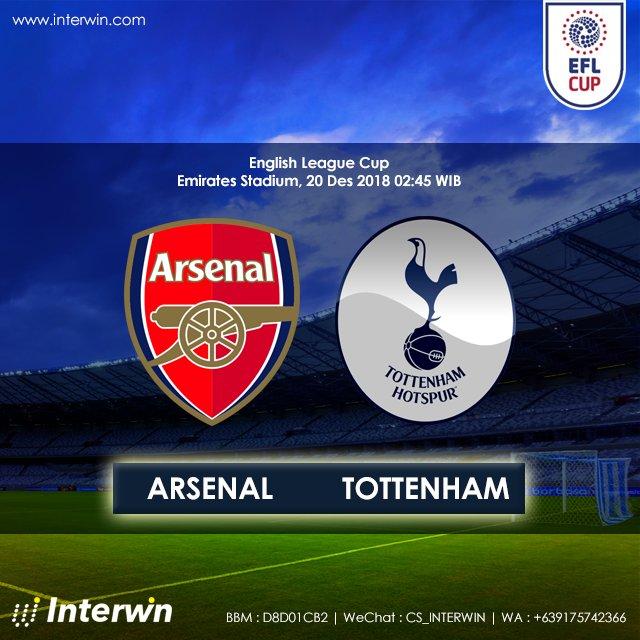 English League Cup Arsenal vs Tottenham Hotspur, 20 Des 2018 02:45 Hdp : -0.25 Arsenal OU : 3 Join now : http://goo.gl/TvxA2D  #jadwalbola #ligainggris #EFL #leaguecup #bandarbola #interwin #pasaranbola #judibola #prediksibola #arsenal #ais #tottehnham