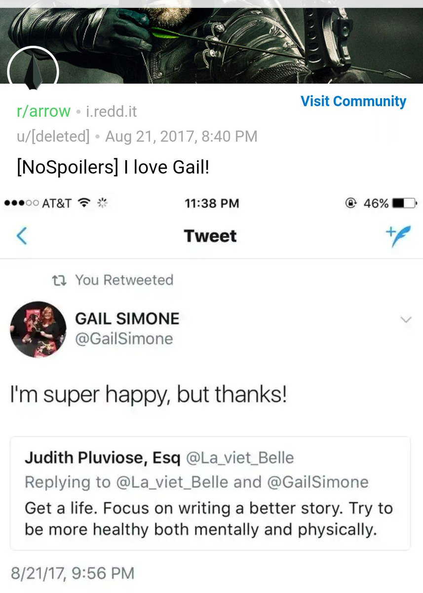 @RoyalReporter And look here what Ive found - seems she likes attacking people on all forums. Link: reddit.com/r/arrow/commen… Pic: