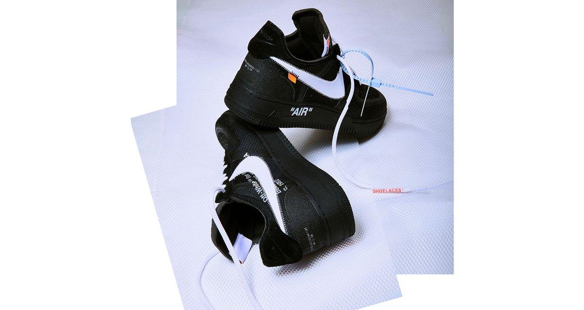 Ad  QUEUE LIVE via Solebox Off White x Nike Air Force 1 Low Black  Mens http   tinyurl.com y75ou89e Wmns http   tinyurl.com yawvktmh Volt ... 06d6baf3f