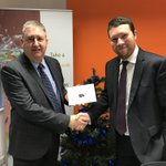 Well done to Chris Needham of Midlands Insurance who received his £250 Red Letter Day voucher from RDM Simon Hurt for winning our recent Winter Prize Draw.
