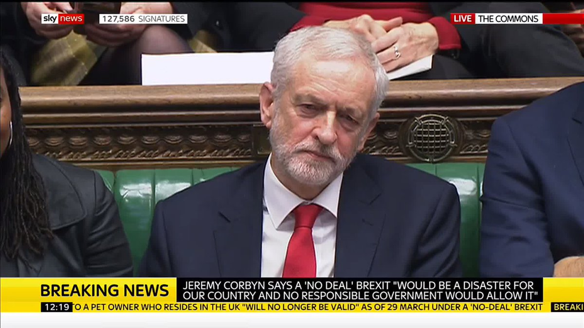 """Jeremy Corbyn appears to mouth 'stupid woman' at Theresa May after she said the Labour party """"aren't impressed"""" with their leader's stance on Brexit.  Follow live politics updates here: http://po.st/b7tQXc"""