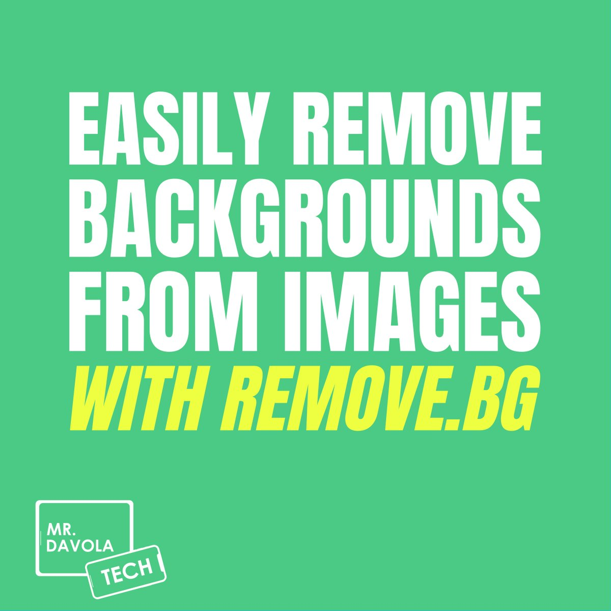 Easily Remove a Background from an Image using remove.bg Works on all Devices!