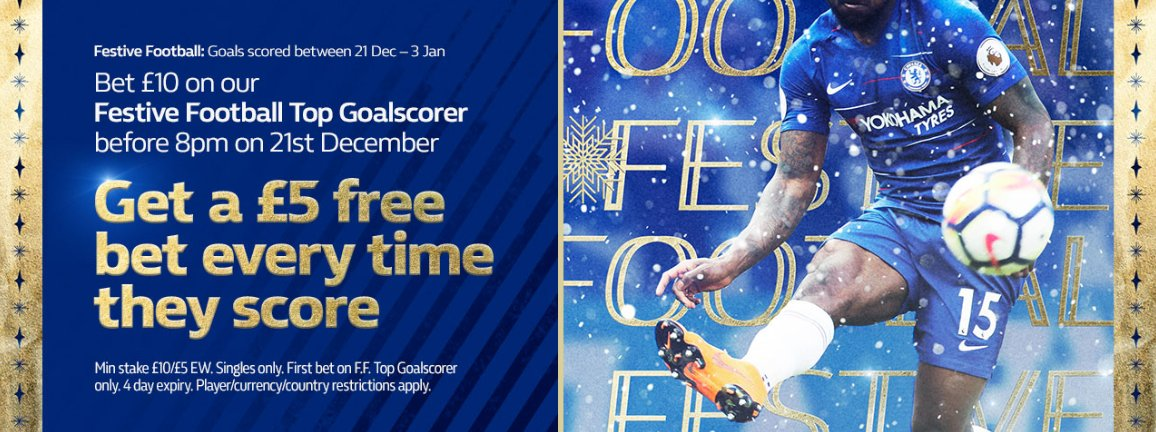 Festive Football With William Hill Bet £10 On The Christmas Top Goalscorer Between 21st & 3rd over 4 games & get £5 for Every Goal #Football #bettingtips #Betting #EFL #PL  🔹New Customers🔹Bet £10 Get £30 In free bets.  18+ T&Cs Apply Retweet & Offer↘️r http://bit.ly/WilliamHill-Festive-Offer…