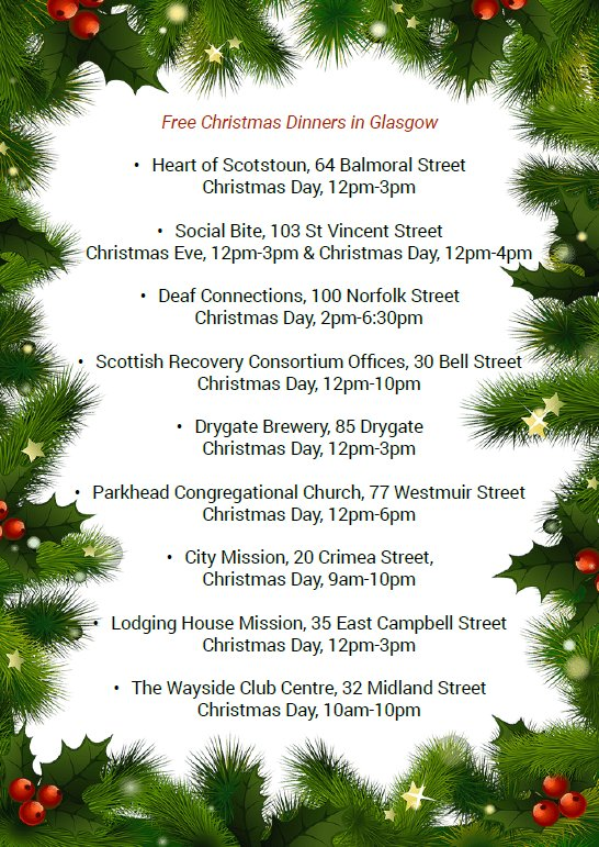 Food Places Open On Christmas.Move On On Twitter These Places Will Be Open In Glasgow On