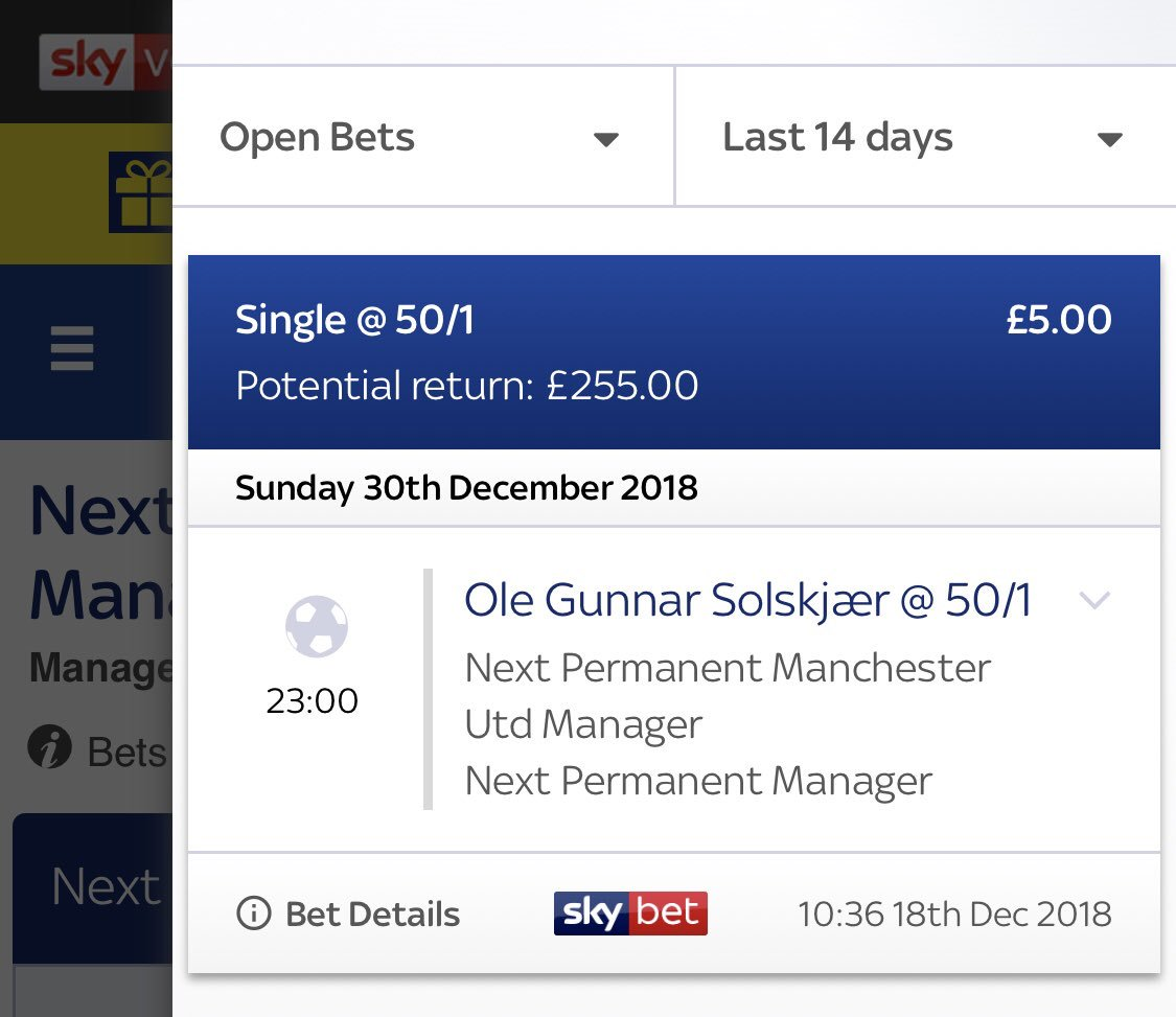 Next united manager sky betting schijnt te kunnen varen crypto currency