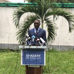 #DRCelections Spokes of Presidential Majority, member of the coalition supporting Kabila's candidate #Shadary, holds weird presser dedicated to insult opposition candidate @MartinFayulu