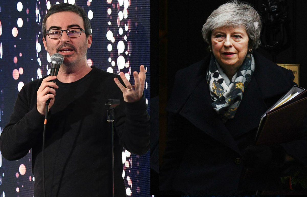John Oliver's cutting take on Theresa May and Brexit is banned on UK television – but you can watch it here https://t.co/AMHm7noGN3