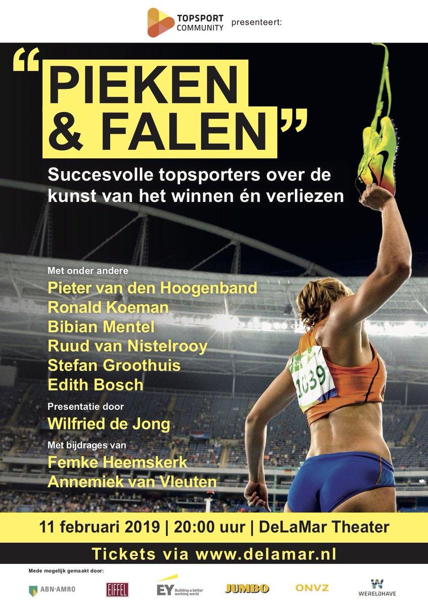 Het beste kerstcadeau voor de sportliefhebber! 11 februari interviewt @wilfrieddejong succesvolle topsporters en coaches over de kunst van het winnen en verliezen. Met o.a. @RonaldKoeman, @RvN1776, @BibianMentel en @pvdhoogenband. Koop je kaarten via: https://delamar.nl/voorstellingen/pieken-en-falen/…