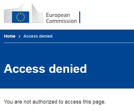 Ironically, when I click on the link in th @EU_Commissione  press release to see details of how Brits will be treated in the EU after Brexit, this is what I ghttps://t.co/AHlFmVgOkjet
