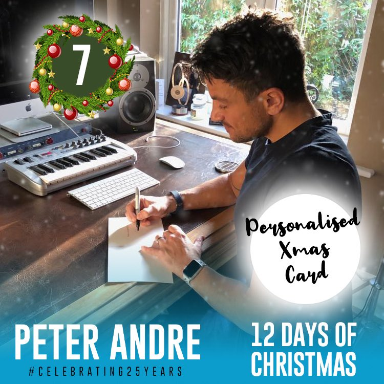 On the 7th Day Of Christmas 🎄my true love gave to meeee... a signed Christmas card from me for one of you! So that should get you in the festive mood🎅🏼and of course get you all excited for my #celebrating25years tour! Go to: https://t.co/Nbk2fZA6MQ to enter!