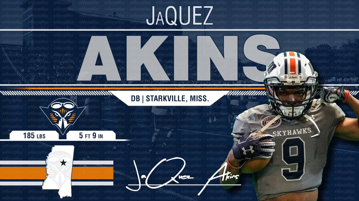 National Champion @JaquezAkins Is Our Latest Addition To The Skyhawk Fam! Physical & Focused DB!!! He is a Skyhawk! 🔷🔶🏆🏈 #NSD19