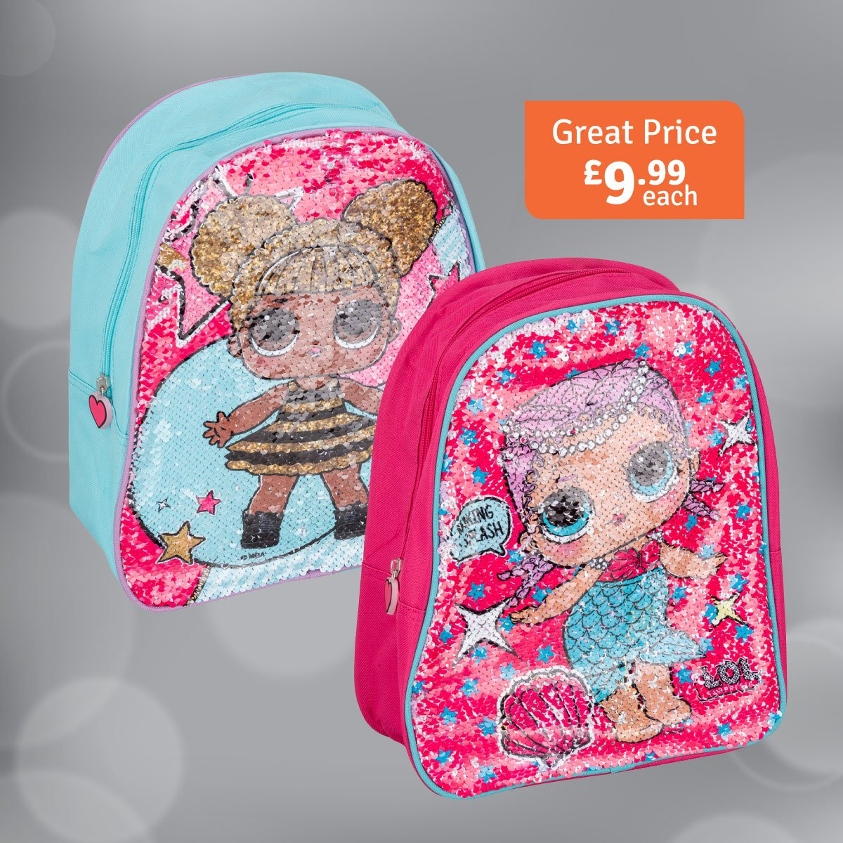 Why not surprise somebody with this  Sequin  LOL Rucksack ! Only £9.99  in-store and online http   socsi.in gcssc Who knows anyone who is obsessed  with ... f5880e74c4