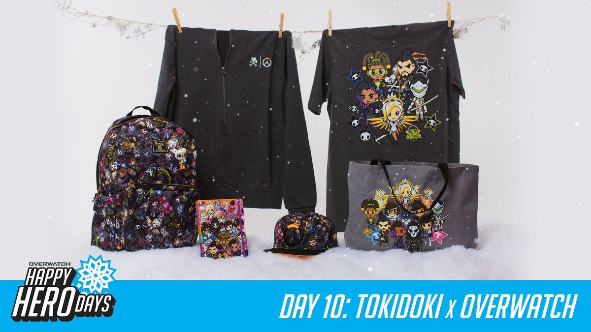 #HappyHeroDays! 12 prizes, 12 days.  Day 10: Tokidoki x Overwatch   RT for a chance to win today's prize from @tokidoki and RT every day for a chance to win a GRAND PRIZE package from @msiUSA.  📜 http://Blizz.ly/2zPpxow