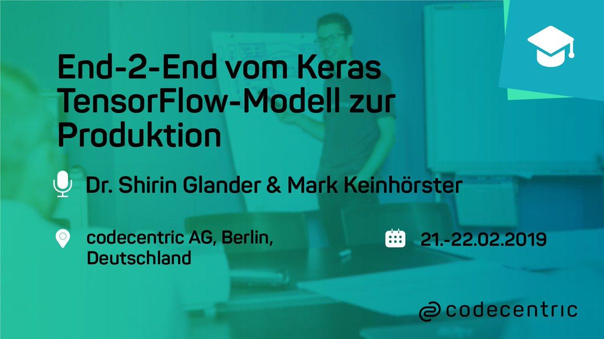 2月21日和22日:从Keras/TensorFlow模型到生产的2端