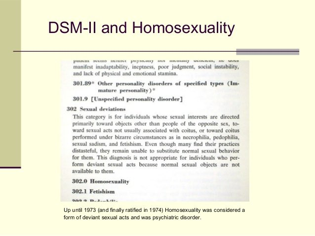 Image result for DSM homosexuality disorder
