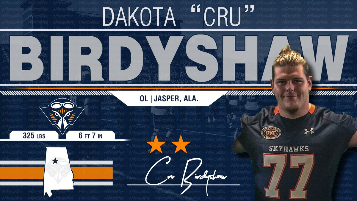 The OL Room Just Added a Giant!! @CruBirdyshaw Adds Instant Ability To Our Offense!!! He Is A Skyhawk! #NSD19 🔷🔶🏈🏆