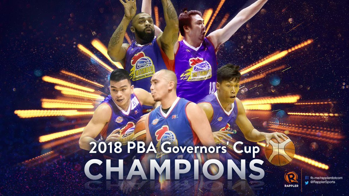 BREAKING NEWS. 🏀 FIRST PBA TITLE IN 4 YEARS! 🏆  Magnolia Hotshots are your 2018 PBA Governors' Cup CHAMPIONS! Congratulations! 🎉  #PBA2018 #PBAFinals https://t.co/4Iik0fweKu