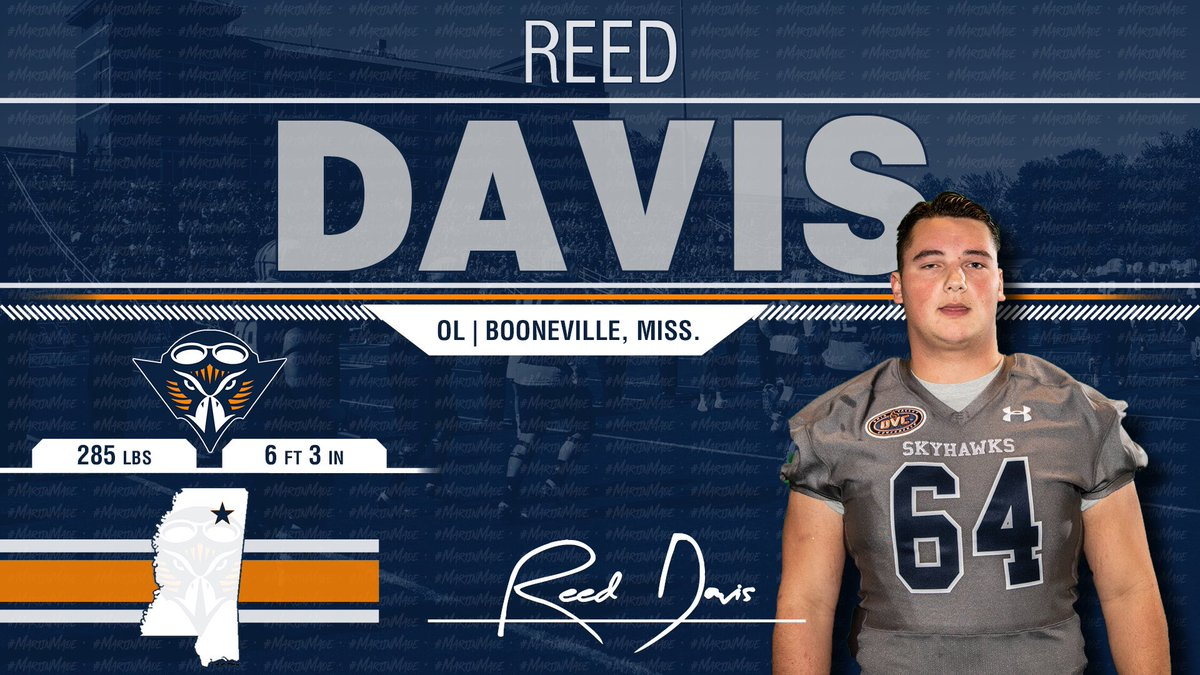 This Guy Will Be On Campus In January to Help The Skyhawk OL! @reeddavis62 Can't Wait to Get Here and We Can't Wait For Him To Be A Skyhawk!!! 🔷🔶🏈🏆 #NSD19