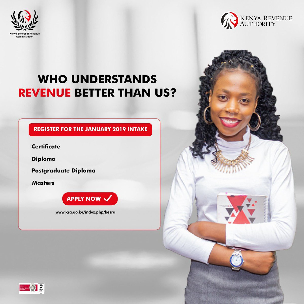 Kenya School Of Revenue Administration On Twitter Advance Your Career In Tax And Customs Administration As Well As Freight Forwarding With Our Academic Programmes Campuses Nairobi Mombasa E Campus Apply For The January