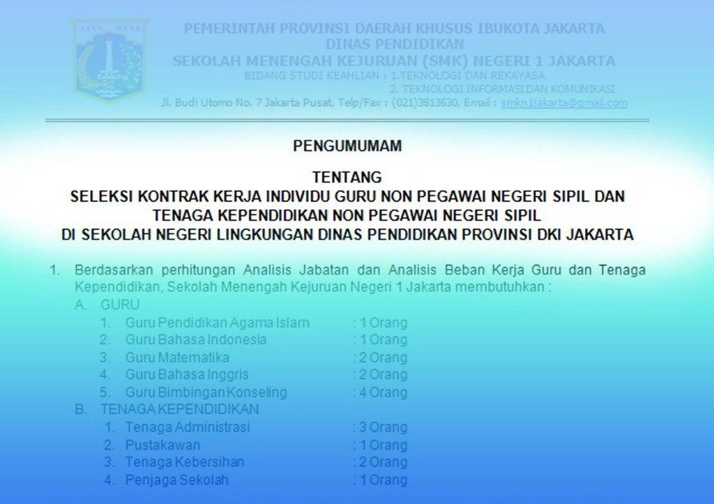 Smk Negeri 1 Jakarta Smknsatujakarta Twitter