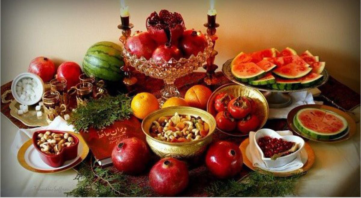 in our history in the last night of autumn longest night in the year whole of family gathered in elder home and celeberate the night yalda