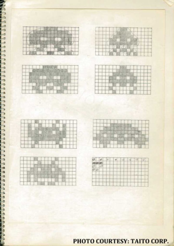 Sometimes ya just gotta put your ideas down on paper.  #SpaceInvaders #spaceinvaders40 #taito #40yearsofinvading #si40